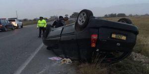 İskele-Ercan yolunda kaza: 4 yaralı