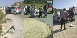 Tuzluca yol kavşağında kaza:  Bir yaralı!