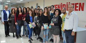 Kıbrıs Üniversitesi öğrencilerinden YENİDÜZEN'e ziyaret