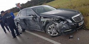 Cemal Erdoğan, trafik kazası geçirdi