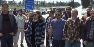 Muhtarlar protesto eylemi yaptı
