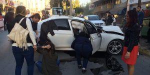 Girne'de trafik kazası