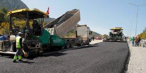 Girne -Lefkoşa ana yoluna asfalt dökülüyor