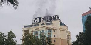 Merit Otel'de yangın çıktı