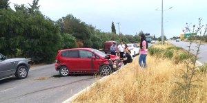 Boğaz yolunda korkutan kaza
