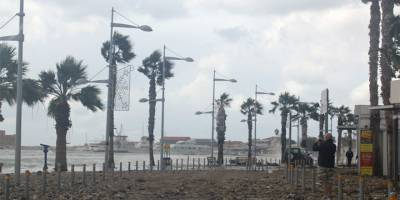 Şiddetli rüzgar Limasol'da zarara yol açtı