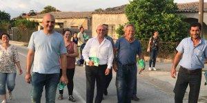 Salih Bayraktar ve ekibi Pınarlı köyünü ziyaret etti