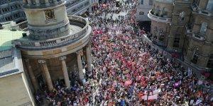 Londra'da Trump'a protesto