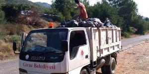 Boğaz Piknik Alanı'ndan 130 poşet çöp