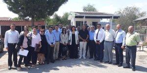 Meclis Komitesi, Salamis Karavan Kamp Tesisi'ni ziyaret etti