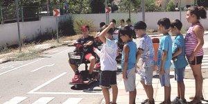 Trafik Eğitim Parkı'nda eğitimler sürüyor