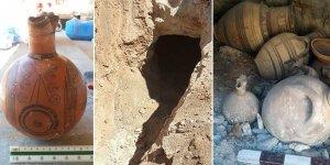 Tatlısu'da 3 bin yıllık antik mezar bulundu...