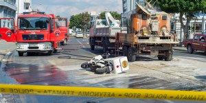 Limasol'da iş aracı patladı