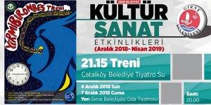"""""""21.15 Treni"""" Girne'de sahneleniyor"""