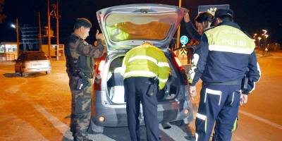 Trafikte bir gecede 157 rapor, 3 men cezası