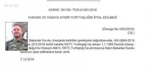 """""""Albay Hüseyin Atik'in yurttaşlığı iptal edildi, iade edildi"""""""