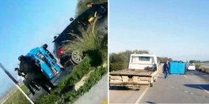 Korkuteli'nde korkutan kaza