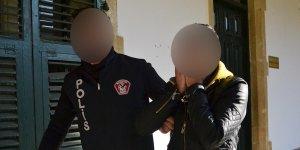 Ercan'da uyuşturucu ile yakalandı