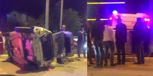 İki araç yüz yüze çarpıştı: 1 yaralı