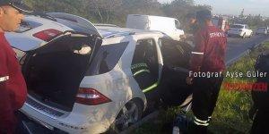 Trafik kazası korkuttu: 2 yaralı