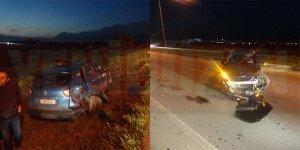 Lefkoşa-Girne anayolunda kaza: 1 yaralı