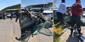 Mallıdağ yolunda korkunç kaza
