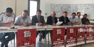 Ara bölgede ortak 1 Mayıs açıklaması