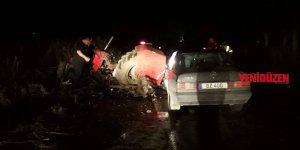 Traktörle araç çarpıştı: 3 yaralı