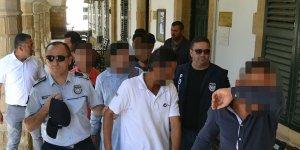 Haspolat'ta ikamet izinsiz kaldıkları tespit edilen 10 kişi mahkemeye çıkarıldı