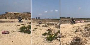 Duyarsız motosikletliye ceza yağdı