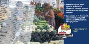 Salatalık 5,95 TL'ye çıktı