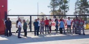 Ercan'da bir saatlik uyarı grevi