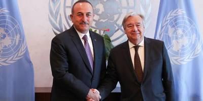 Çavuşoğlu, Guterres ile görüştü