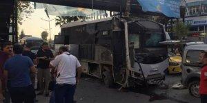 Adana'da servis aracına bombalı saldırı