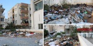 Arazide bulunan çöpler alev aldı