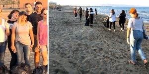 Glapsides Plajı temizlendi
