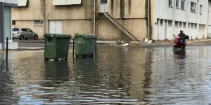 Mağusa'da yollar sular altında