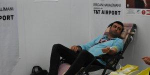 Ercan Havalimanı'nda kan bağışı kampanyası