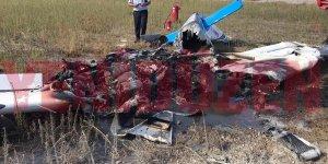 Geçitkale'de eğitim uçağı düştü: 2 ölü
