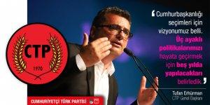 """CTP'den Cumhurbaşkanlığı paylaşımı: """"Beş yılda yapılacakları belirledik"""""""