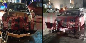 İki araç yüz yüze çarpıştı