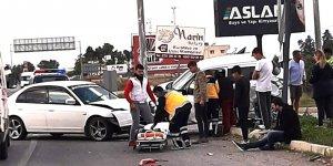 Lefkoşa-Mağusa yolundaki kaza korkuttu