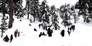 Kıbrıs'ta kış dendi mi, Trodos!