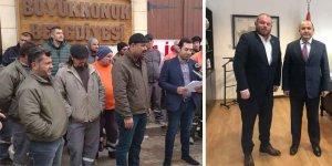 İşçiler grevde, Başkan Elçilik'te