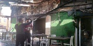 Mağusa'da yangın: İşyerinin büyük kısmı zarar gördü