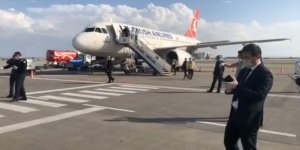 128 yolcu Ercan'a indi