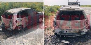İnönü'de araç yangını