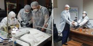 Tatar, tıbbi maske üretim tesisinde inceleme yaptı