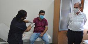 Değirmenlik Belediyesi çalışanlarına Covid-19 testi yapıldı