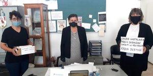 Mesaryalı terzi kadınlardan KHYD'ye maske bağışı